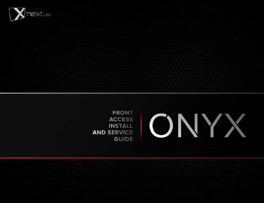ONYX installation and service guide